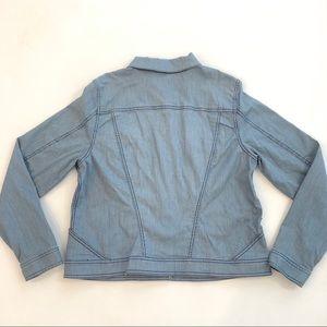 CAbi Jackets & Coats - Women's CAbi  Large L pinstripe denim jacket